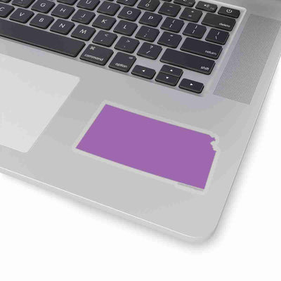 Kansas State Shape Sticker PURPLE