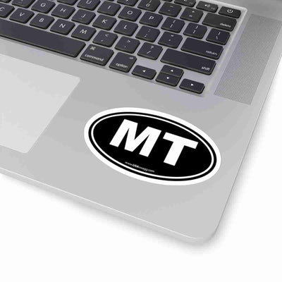 Montana MN Euro Oval Sticker SOLID BLACK