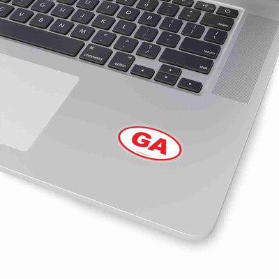 Georgia GA Euro Oval Sticker RED