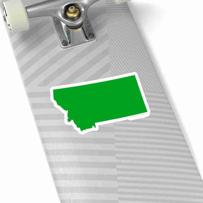 Montana State Shape Sticker GREEN