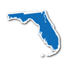 Florida State Shape Sticker Outline BLUE