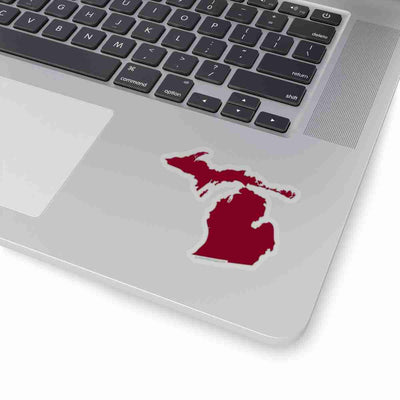 Michigan State Shape Sticker GARNET