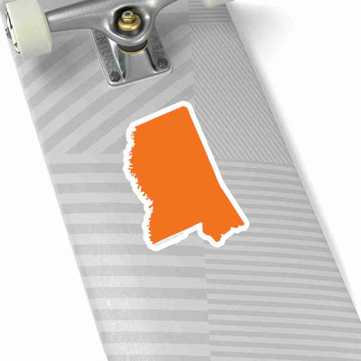 Mississippi State Shape Sticker ORANGE