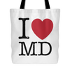 I Love Maryland Tote Bag