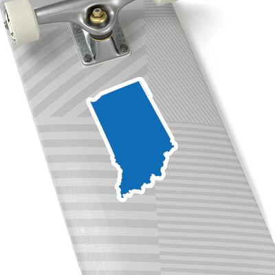 Indiana State Shape Sticker BLUE