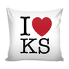 I Love Kansas Pillow Case