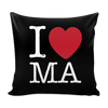 I Love Massachusetts Pillow