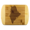 Maine State Shape Bamboo Cutting Board