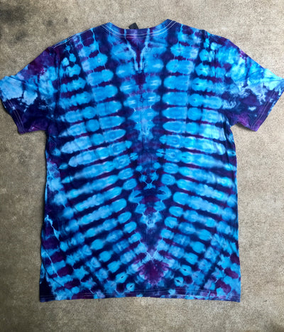 Tie Dye Short Sleeve Tshirt, Large
