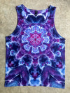 Tie Dye Womens Tank Top - Medium
