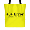 404 Error Costume Not Found Halloween Bag