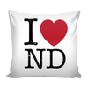 I Love North Dakota Pillow Case
