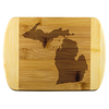 Michigan State Shape Bamboo Cutting Board