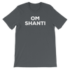 Yoga Unisex short sleeve t-shirt. OM SHANTI
