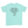 Yoga. Youth Short Sleeve T-Shirt. GANESH ELEPHANT