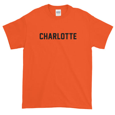 Charlotte North Carolina Jersey Font Short sleeve t-shirt
