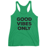 Yoga Women's tank top. GOOD VIBES ONLY
