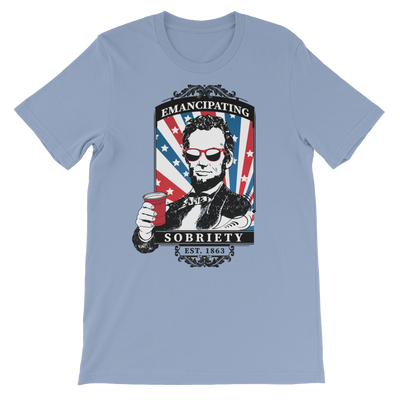 Emancipating Sobriety  - 4th of July Unisex Short Sleeve T-Shirt.