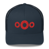 PH Embroidered Red Donut Hat Trucker Cap