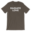 Yoga Unisex short sleeve t-shirt. RADIATE LOVE