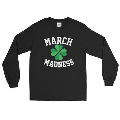 Basketball March Madness Four Leaf Clover Long Sleeve T-Shirt