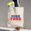 Born Free 4th of July Tote Bag