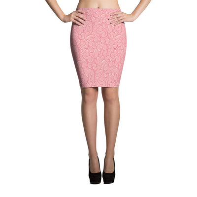 Halloween Zombie Guts Pink Pencil Skirt