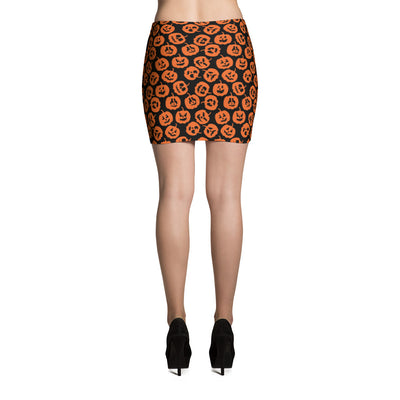 Halloween Pumpkin Mini Skirt