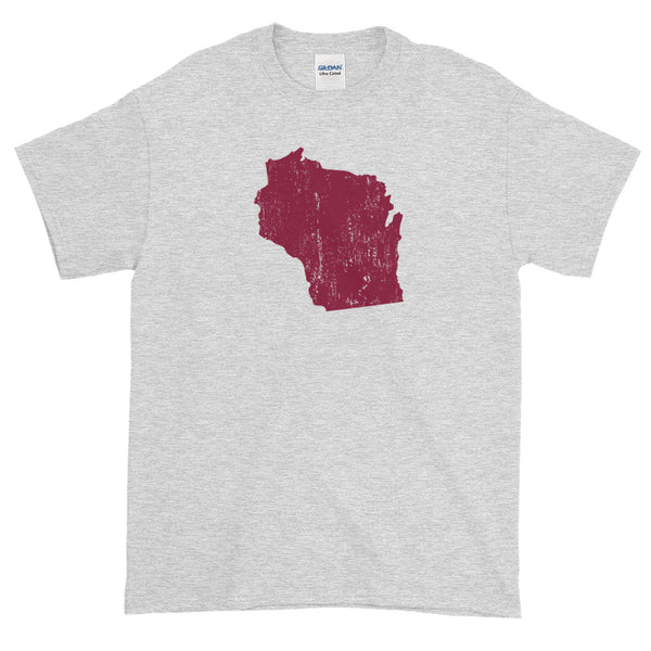 Wisconsin Distressed State Shape Women's short sleeve t-shirt