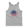 American Flag Paint Splatter - 4th of July Tank Top