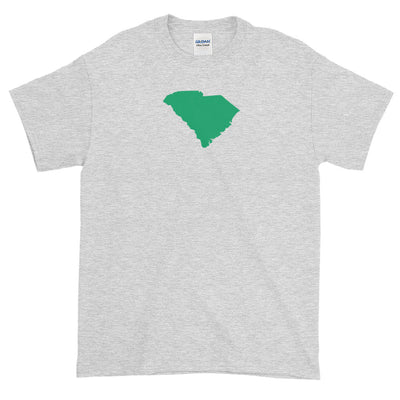 South Carolina State Shape GREEN Short sleeve t-shirt