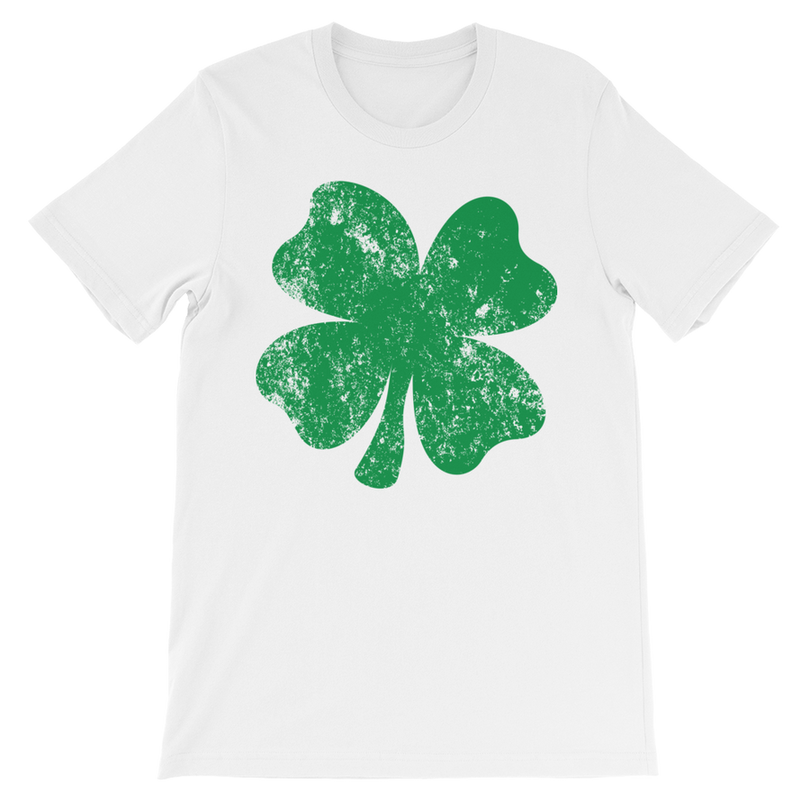 Four Leaf Clover Distressed - Funny St. Patricks Day Short-Sleeve T- Shirt bdb9adf80