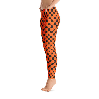 Halloween Black Orange X Leggings