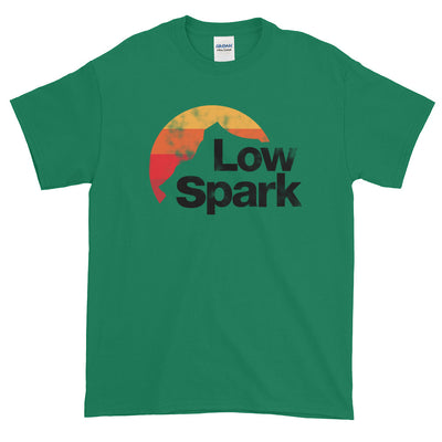 Low Spark Retro Distressed Graphic Short-Sleeve T-Shirt