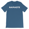 Yoga Unisex short sleeve t-shirt. NAMASTE