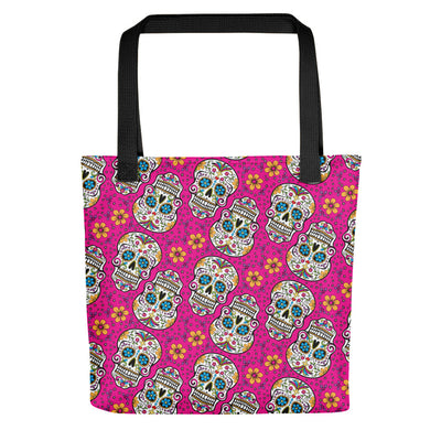 Sugar Skulll Day of The Dead PINK Tote bag