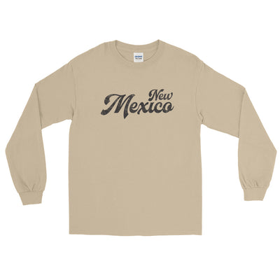 New Mexico Script Distressed Long Sleeve T-Shirt