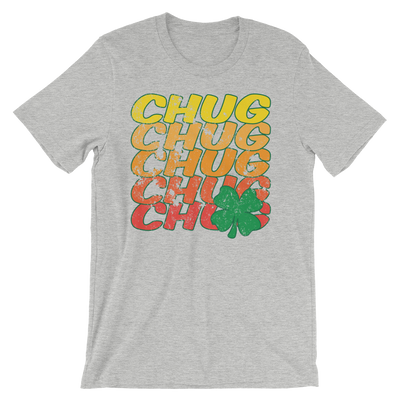 Chug Four Leaf Clover Distressed - Funny St. Patricks Day T- Shirt