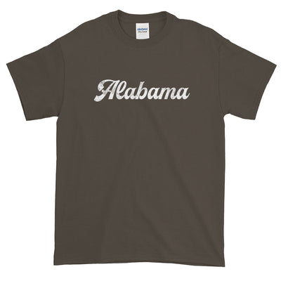 Alabama Distressed Script Font Short-Sleeve T-Shirt
