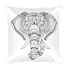 Yoga. Square Pillow. GANESH ELEPHANT