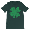 Four Leaf Clover Distressed - Funny St. Patricks Day Short-Sleeve T- Shirt
