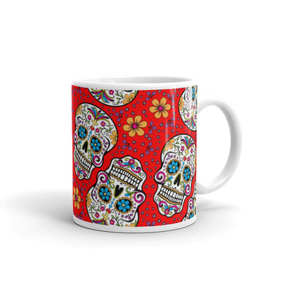 Sugar Skulll Day of The Dead RED Mug