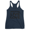 Yoga Tank Top. BREATHE LIVE LOVE. Women's tank top
