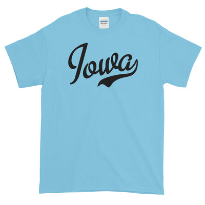 Iowa Script Black Short sleeve t-shirt