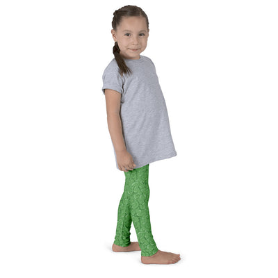 Halloween Zombie Guts Green Kid's leggings