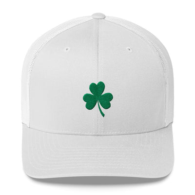Leaf Clover Embroidered St. Patricks Day Trucker Cap