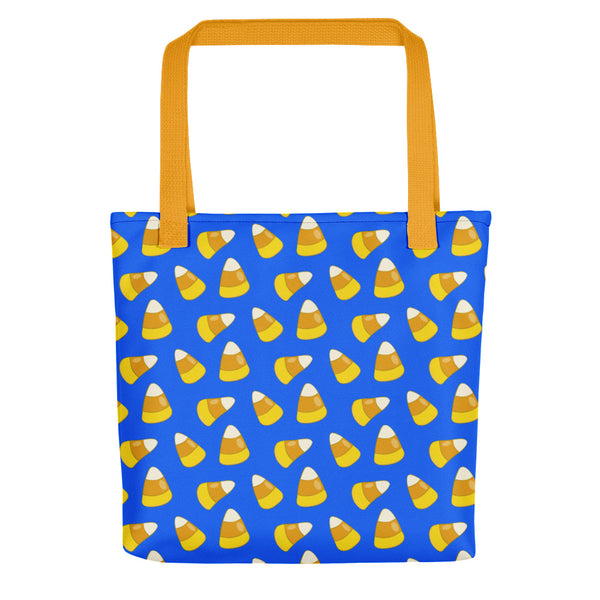Halloween Candy Corn LIGHT BLUE Tote bag