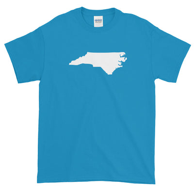 North Carolina State Shape Outline Short sleeve t-shirt