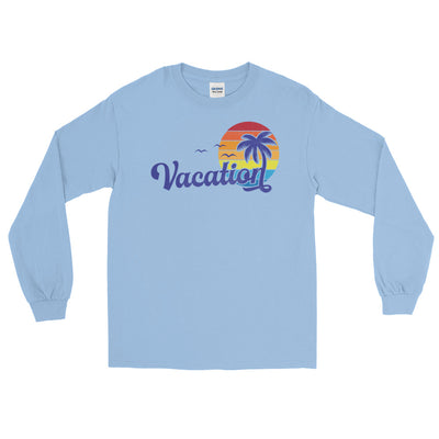 Vacation Retro Distressed Graphic Long Sleeve T-Shirt