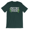 Cheers Fuckers - Funny St. Patricks Day Short-Sleeve T- Shirt